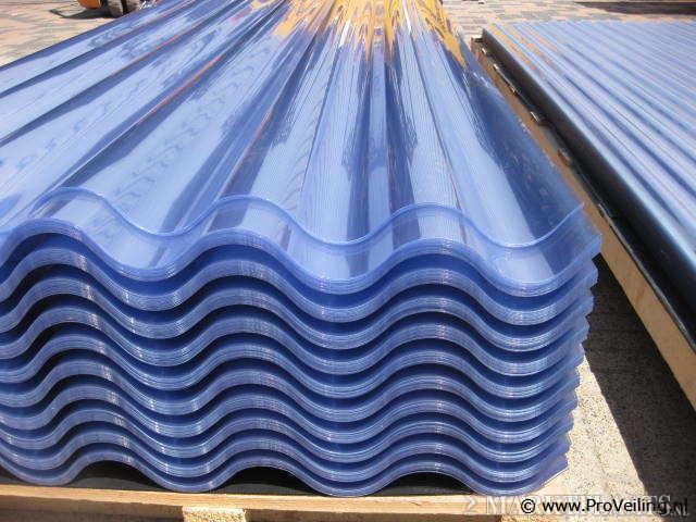 Veiling van diverse soorten PVC, Polyester & Isolatieplaten te Lutten
