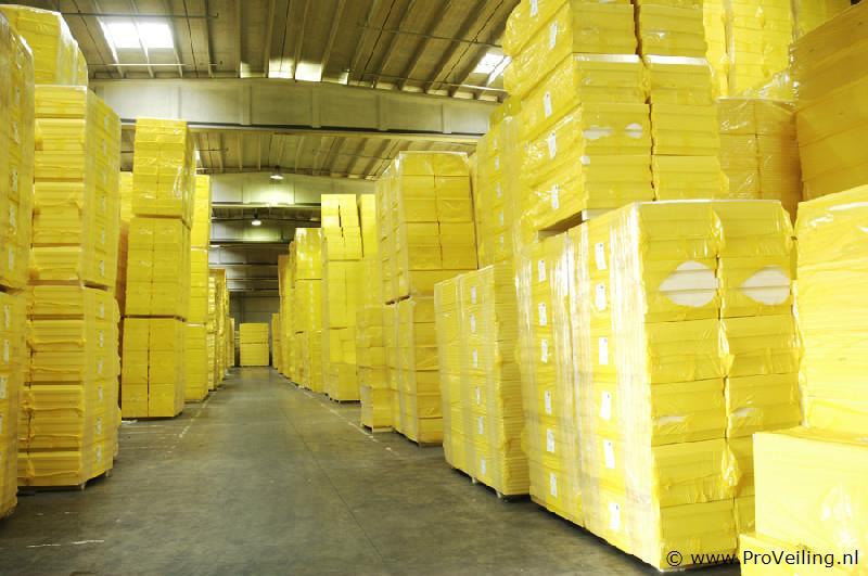 Veiling van een fabriekspartij diverse isolatiematerialen te Lemelerveld (OV)