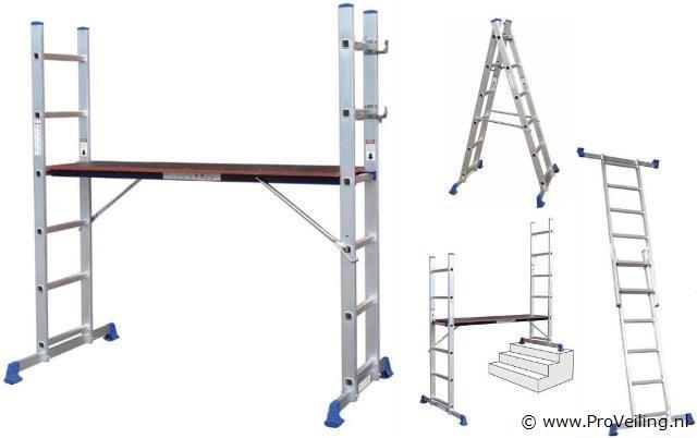 Veiling van diverse goederen met o.a. diverse werkplaatsbenodigdheden; gereedschap; design barkrukken; 2 in 1 steiger & ladders etc. (Gratis verzending)