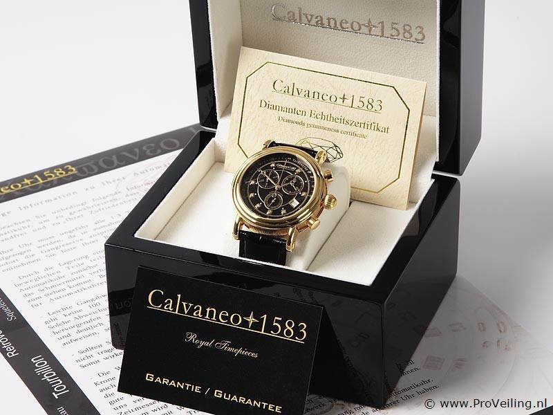 Veiling van diverse Calvaneo+1583 horloges & Britt Royal Collection afvalbakken te Drachten