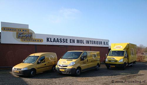"Faillissementsveiling voorraad en inventaris ""Klaasse en Mol Interieur B.V."" te Rotterdam"