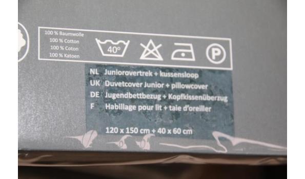 Pelusa juniorovertrek en kussensloop - 120x150cm/40x60cm - ca. 8 stuks
