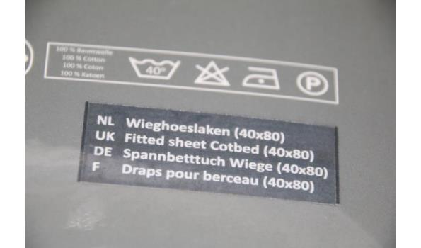 Pelusa wiegovertrek 60x80 - ca. 7 stuks