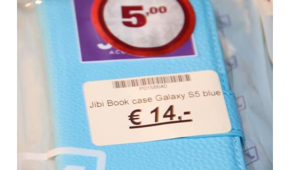 Jibi book case Samsung Galaxy - diverse modellen - ca. 5 stuks