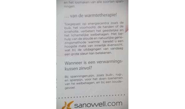 Warmtekussen: merk Sanowell 30x40 cm