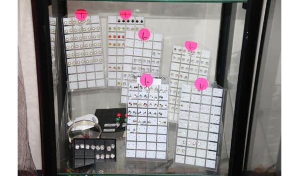Display incl. oorbellen - ca. 5 stuks displays