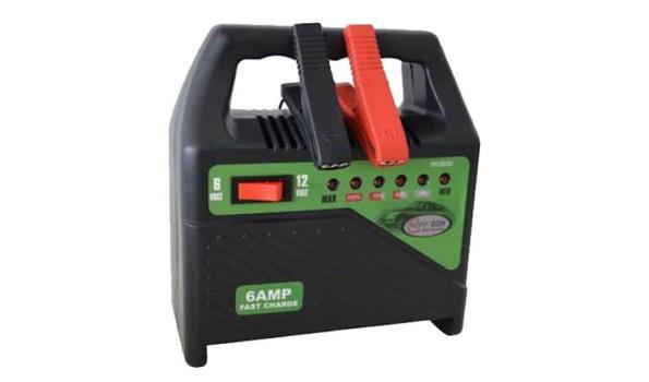 Acculader, 6 ampère, 6/12 volt, 4x
