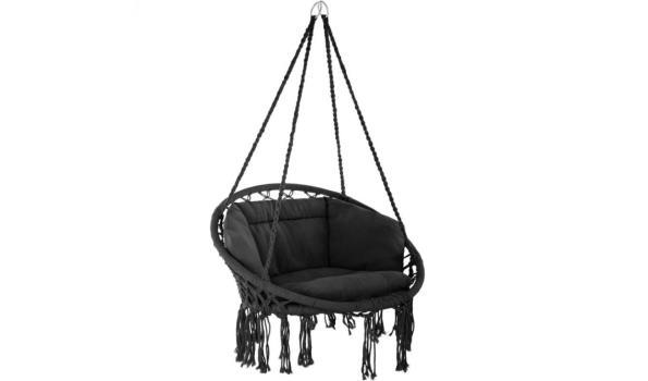 Hangstoel zwart