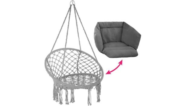 Hangstoel grijs