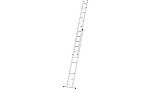 Schuifladder, Alumnium Lichtgewicht, 2x 11 sporten met stabilisatie balk