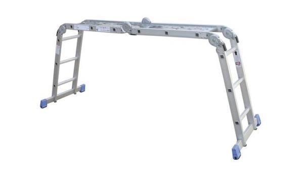 Vouwladder, Aluminium, Lichtgewicht, 4x3 sporten met platform