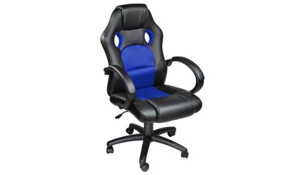Bureaustoel zwart / blauw