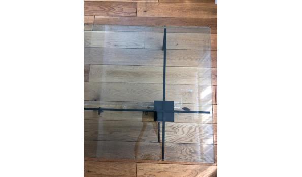 Design salontafel, glas - 100x100x35cm