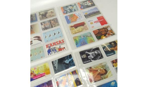 Partij vintage telefoonkaarten