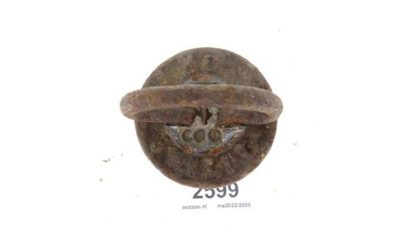 Antiek ijzeren kilo gewicht