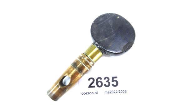 Bronskoperen kraandeel met bakelieten knop
