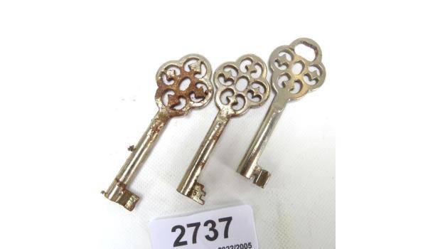 3 oude sleutels
