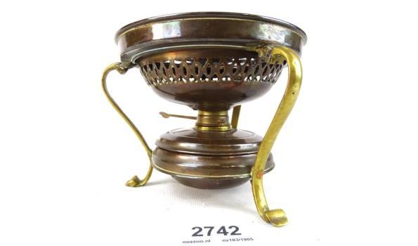 Koper met bronzen rechaud