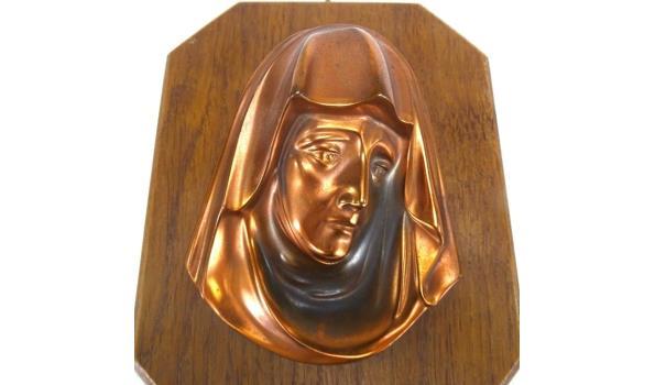 Messing plaque Madonna