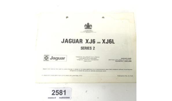 Origineel Jaguar XJ6 series 2 instructie boek