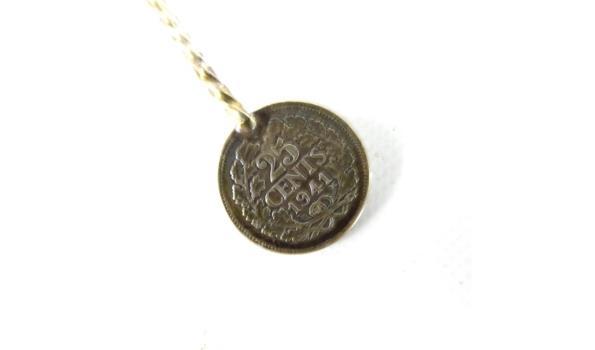 Van oude Nederlandse munten gemaakt lepel