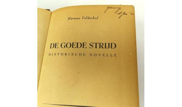 Antiek boek. Herman Felderhof. De goede strijd