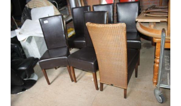 Loom stoelen - 6 stuks