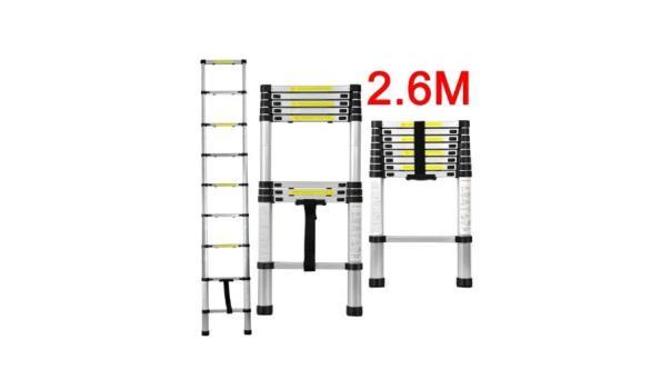 Telescopische Aluminium ladder 9 treden, 2x