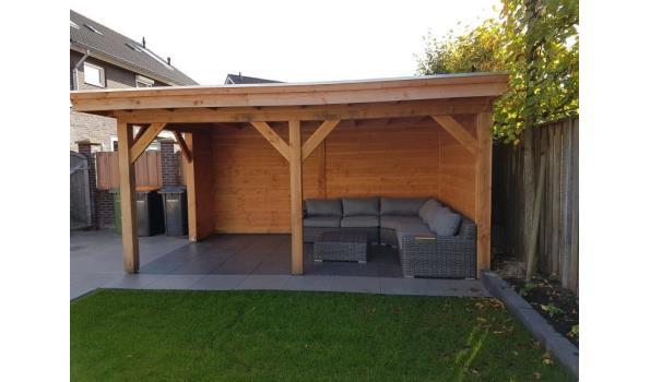Douglas veranda met schuur 600x300cm / 200x300 schuur