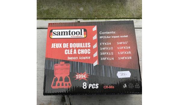 Samtool CR-Mo 8-delige krachtdoppen adapter set
