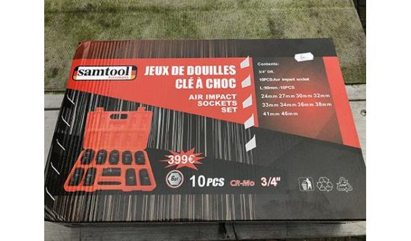 """Samtool CR-Mo 3/4"""" 10-delige krachtdoppen set"""