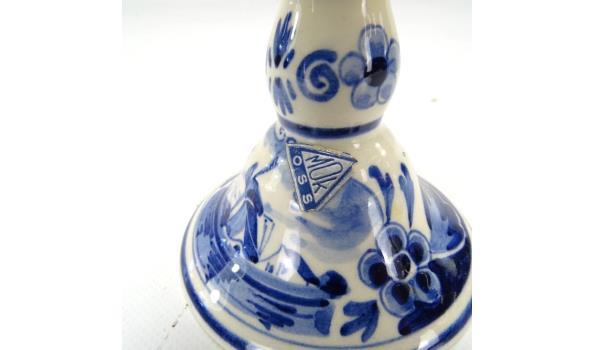 Delftsblauwe kandelaar