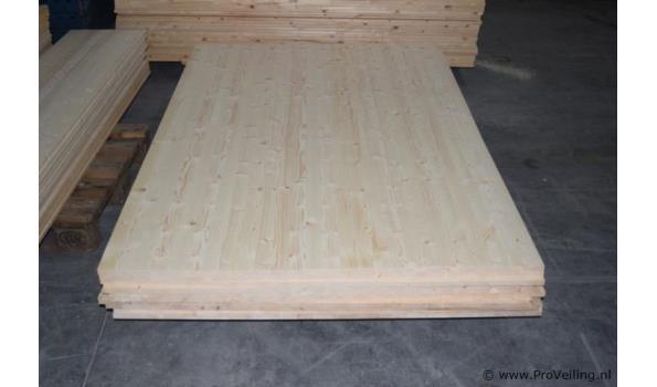 Houten platen - 200x123x1,5cm - aantal 2 stuks
