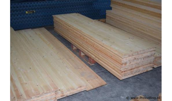 Grenen houten planken - 250x40x1,5cm- aantal 4 stuks