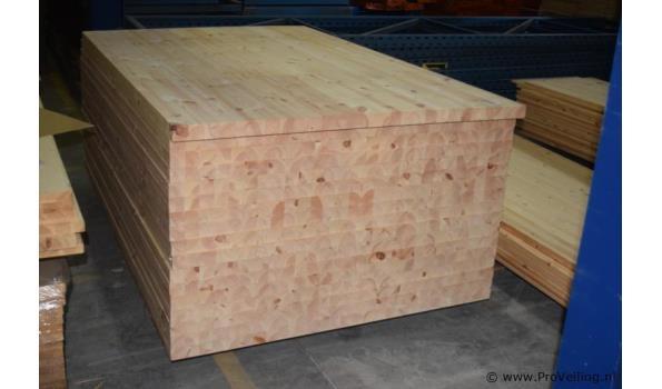 Grenen houten platen- 200x123x4,5cm - 2 stuks