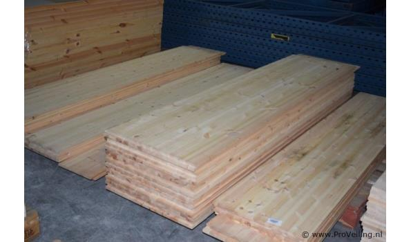 Grenen houten planken - 250x30x1,5cm - aantal 5 stuks