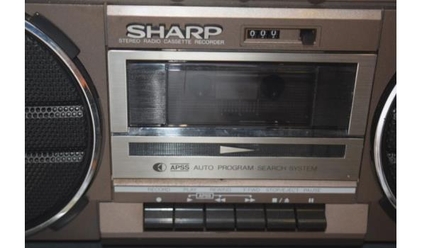 Sharp radio/cassettespeler