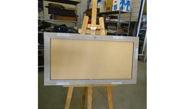Onduidelijke techniek in zware houten lijst