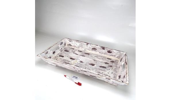 White-wash houten dienblad