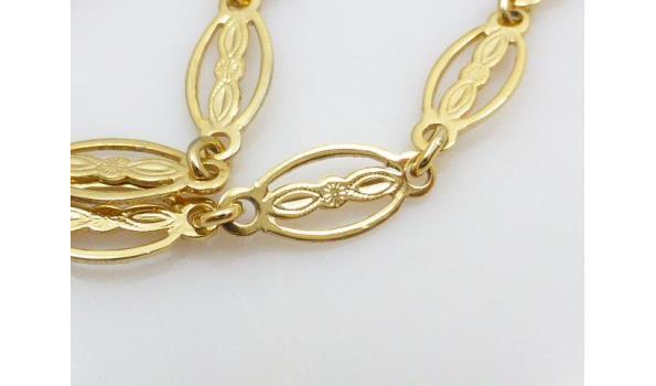 Sarah Coventry goudkleurig collier met jade
