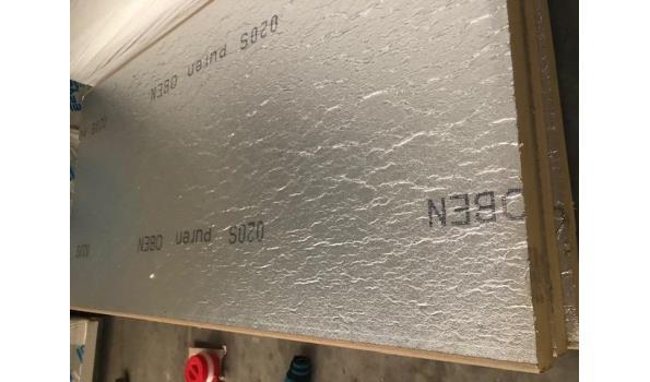 B-keus Pir platen 240x120cm - 10cm dik - dubbelzijdig aluminium folie 0,72 m2 per plaat  met trapsponning - totaal ca. 10m2