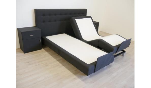 Boxspring elektrisch Home Flexo, 140x200 cm, met Pocket geveerde onderboxen, antraciet