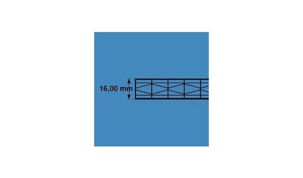 Polycarbonaat  Platen X-structuur Opaal 2 x UV bestendig 16 mm dik