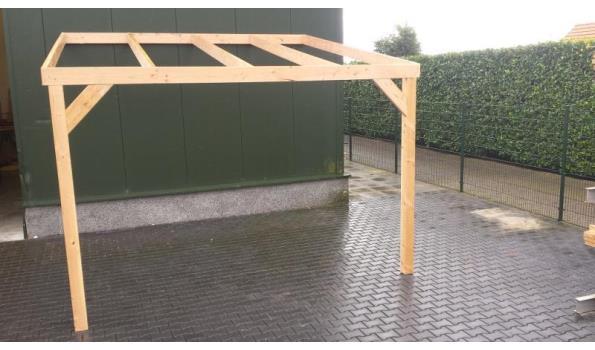 Douglas houten onderbouw voor veranda