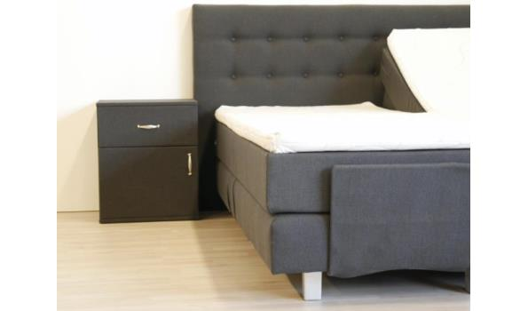 Nachtkast Home Luxo, antraciet, 2x