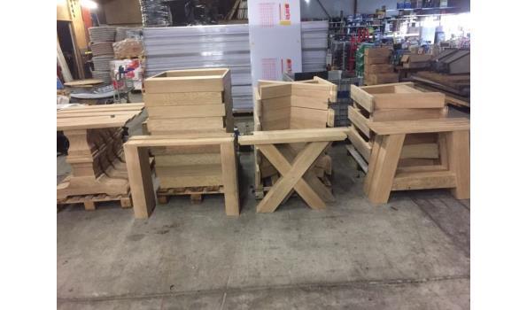 Eiken tafel met X poten, 200 x 100 cm