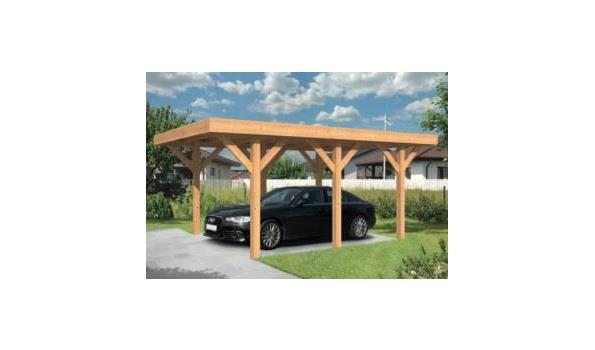 Douglas carport 600x300cm