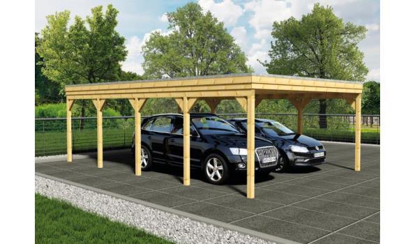 Douglas carport 900x400cm