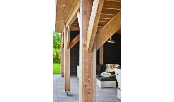 Douglas veranda met schuur 500x400cm / 200x400 schuur