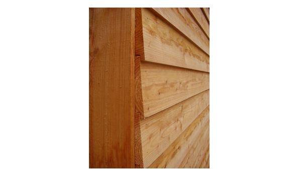 Douglas veranda met schuur 900x300cm / 300x300 schuur